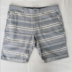 BR Blue & White Striped Shorts